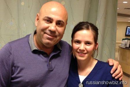 Иосиф Пригожин с медсестрой Резедой