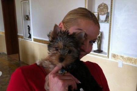Анастасия Волочкова со своей собачкой