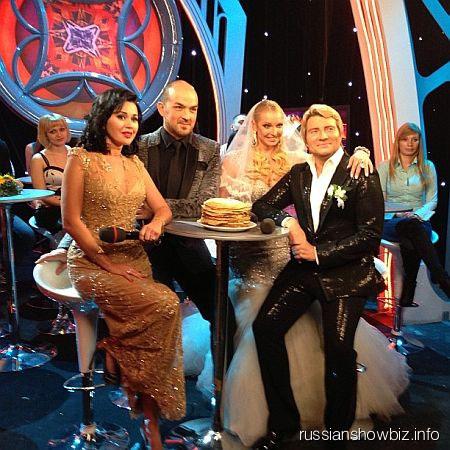 Николай Басков и Анастасия Волочкова на съемках программы
