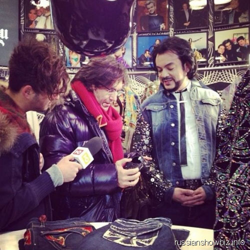 Андрей Малахов и Филипп Киркоров на открытии бутика