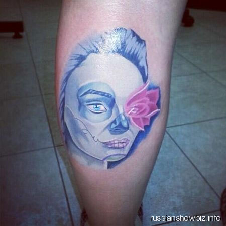 Татуировка в честь Алены Водонаевой