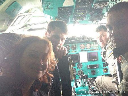 Виктория Тарасова в кабине пилотов