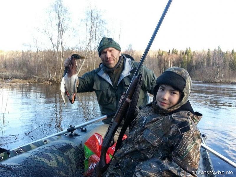 Николай Валуев с сыном