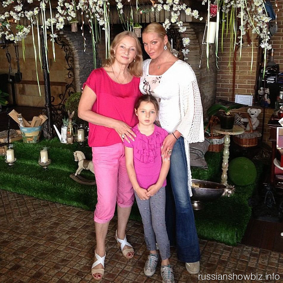 Анастасия Волочкова с мамой и дочерью