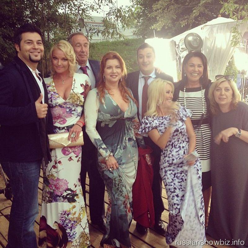 Анастасия Волочкова с коллегами по шоу-бизнесу