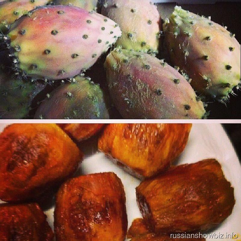 Блюдо из плодов кактуса