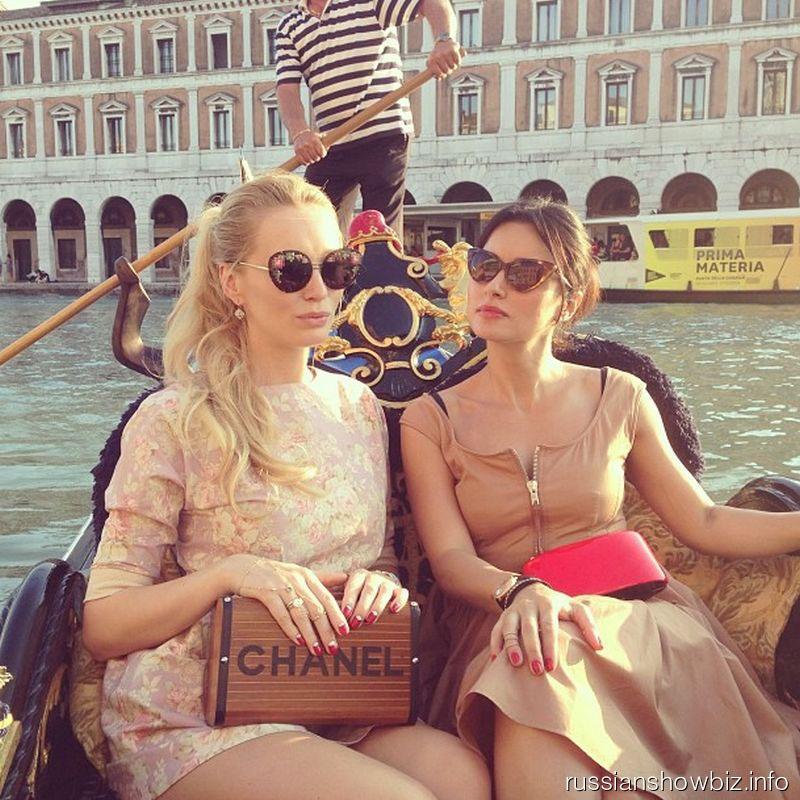 Тина Канделаки с подругой в Венеции