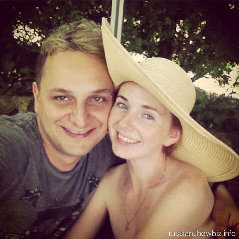 Лена Катина с мужем