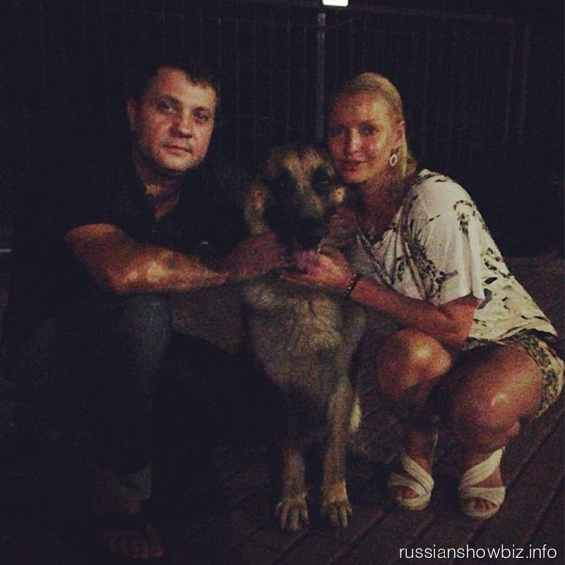 Анастасия Волочкова с Бахтияром и Мухтаром