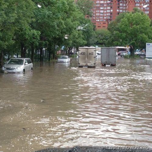 Наводнение во Владивостоке глазами Анастасии Волочковой