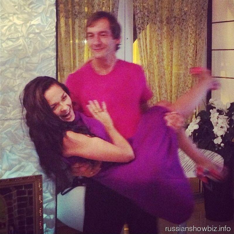 Глеб Пьяных с женой Элей