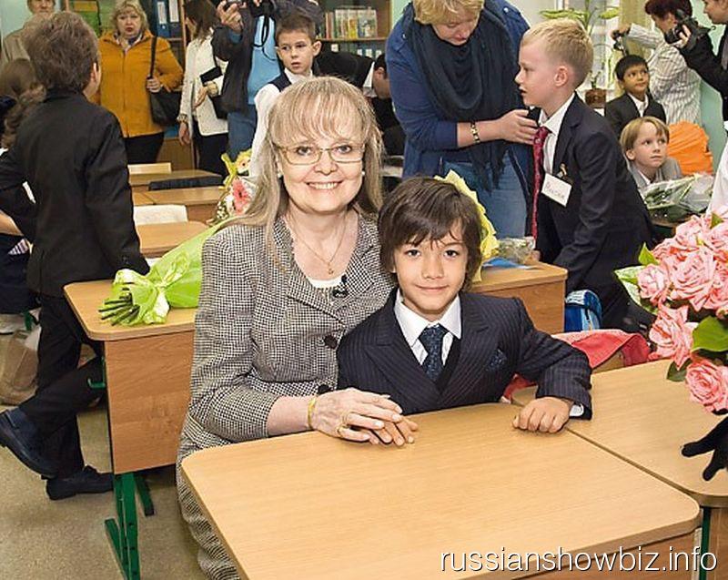 Наталья Белохвостикова с сыном