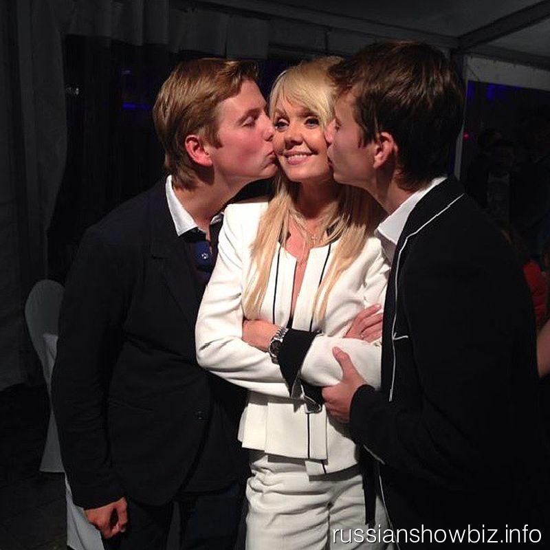 Валерия с сыновьями