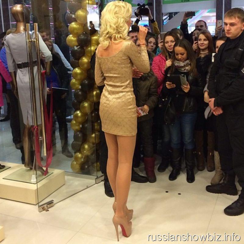 Ольга Бузова на открытии магазина в Нижнем Новгороде
