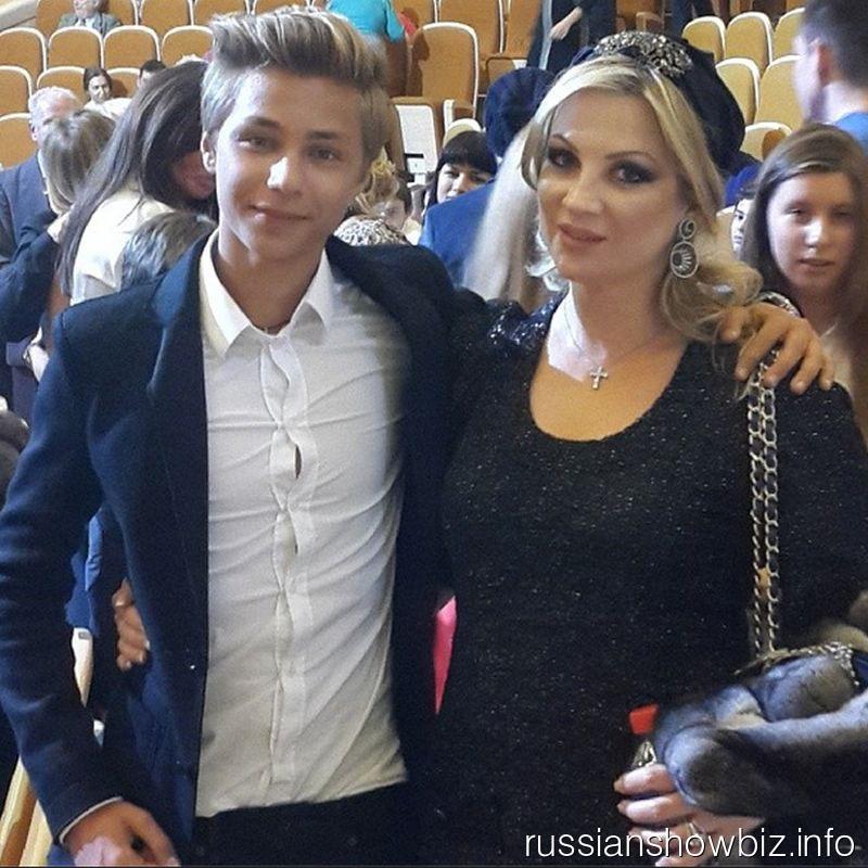 Инна Михайлова с крестником