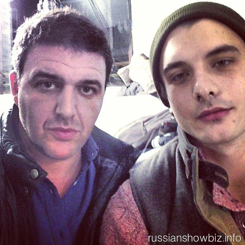 Максим Виторган со своим киношным сыном