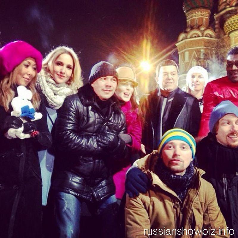 Российские звезды на Красной площади