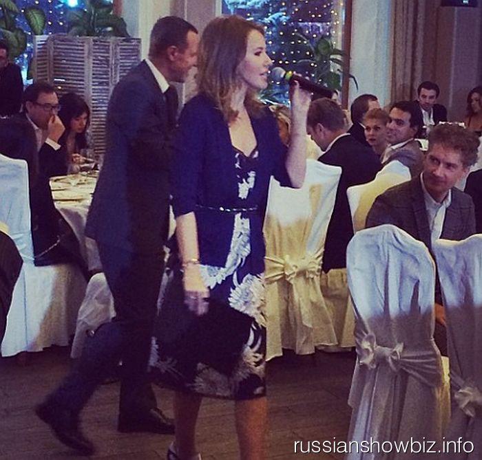 Ксения Собчак на благотворительном аукционе