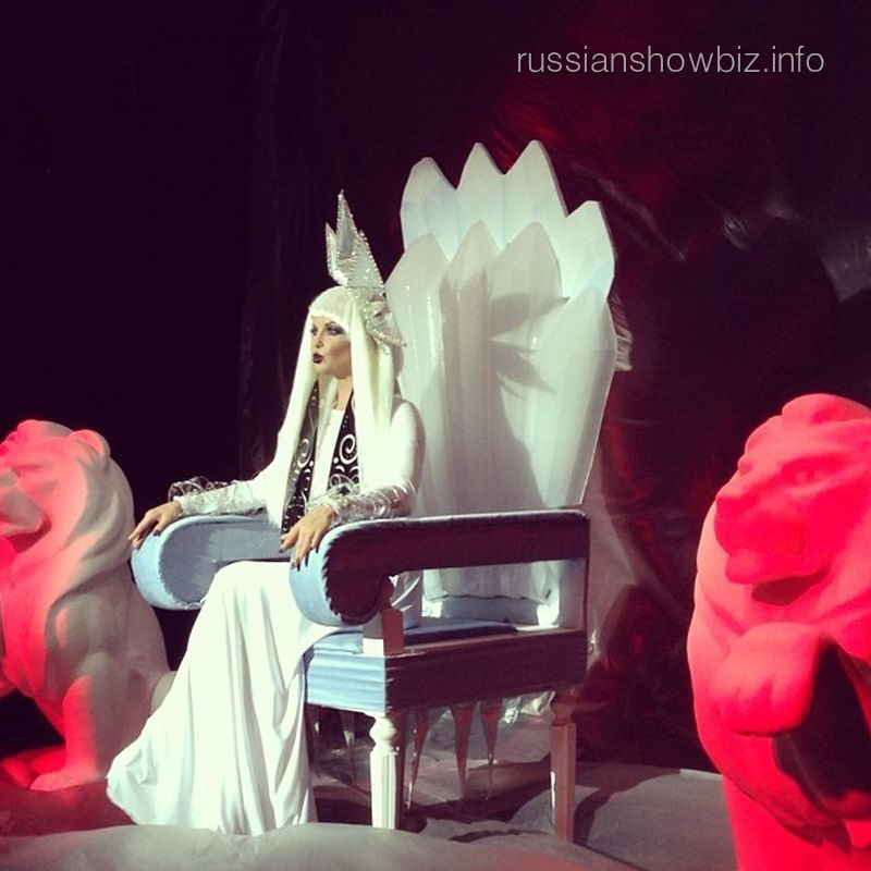 Анастасия Волочкова в образе Снежной королевы