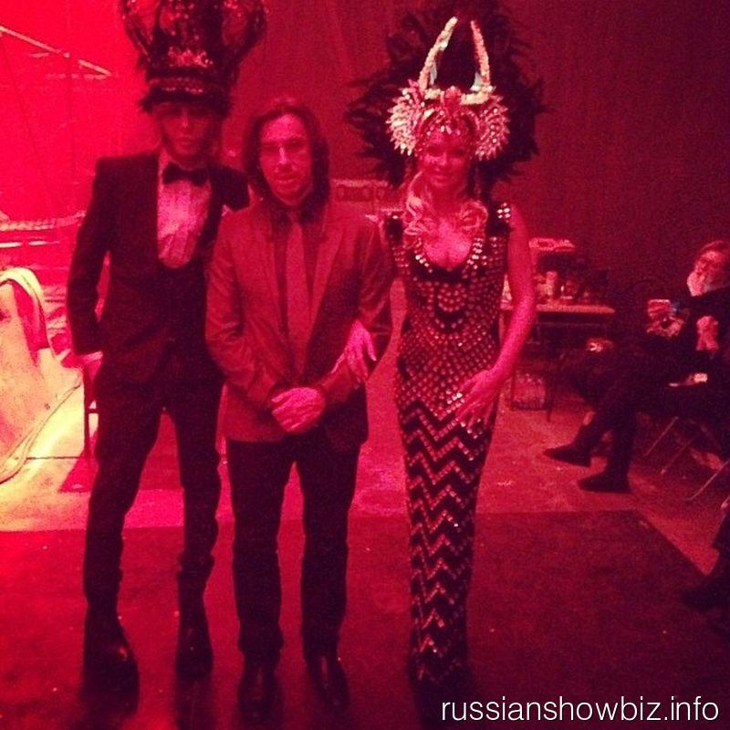 Сергей Зверев, Максим Галкин и Анастасия Волочкова