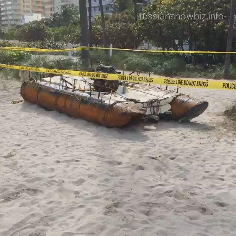 Лодка возле дома Кристины Орбакайте