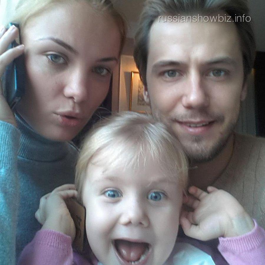 Татьяна Артгольц с бывшим мужем и дочкой