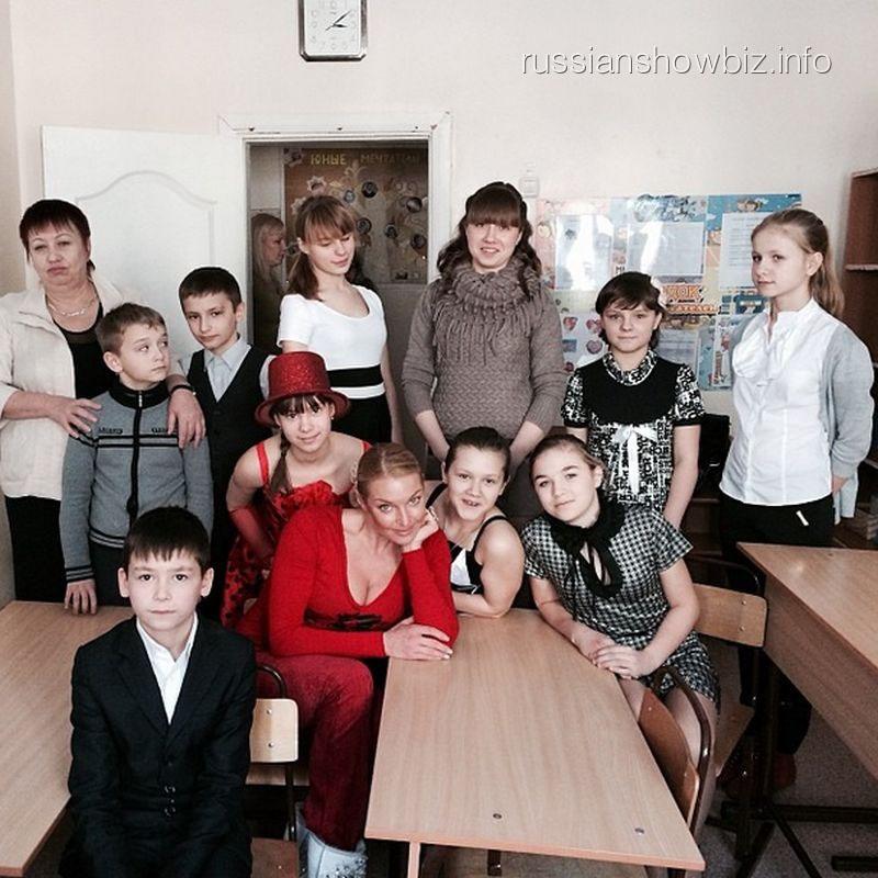 Анастасия Волочкова в детском доме