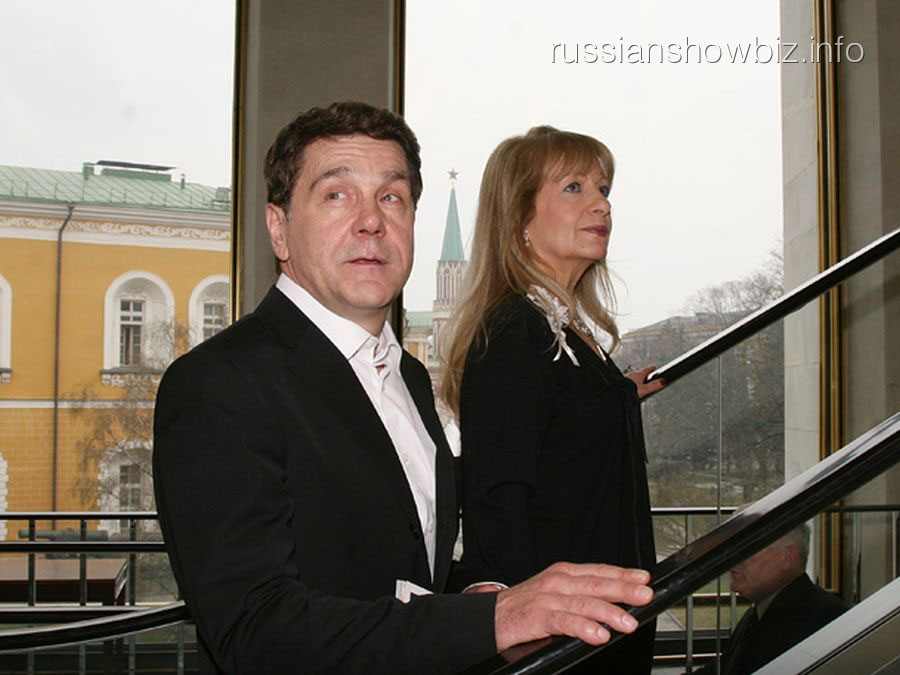 Сергей Маковецкий с женой Еленой