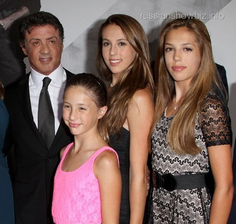 Сильвестр Сталлоне с дочками