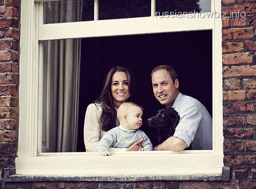 Кейт Мидллтон, принц Уильям и принц Джордж