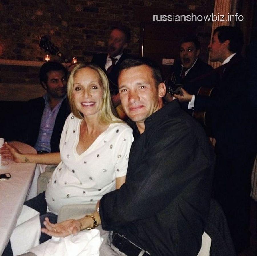 Андрей Шевченко с женой