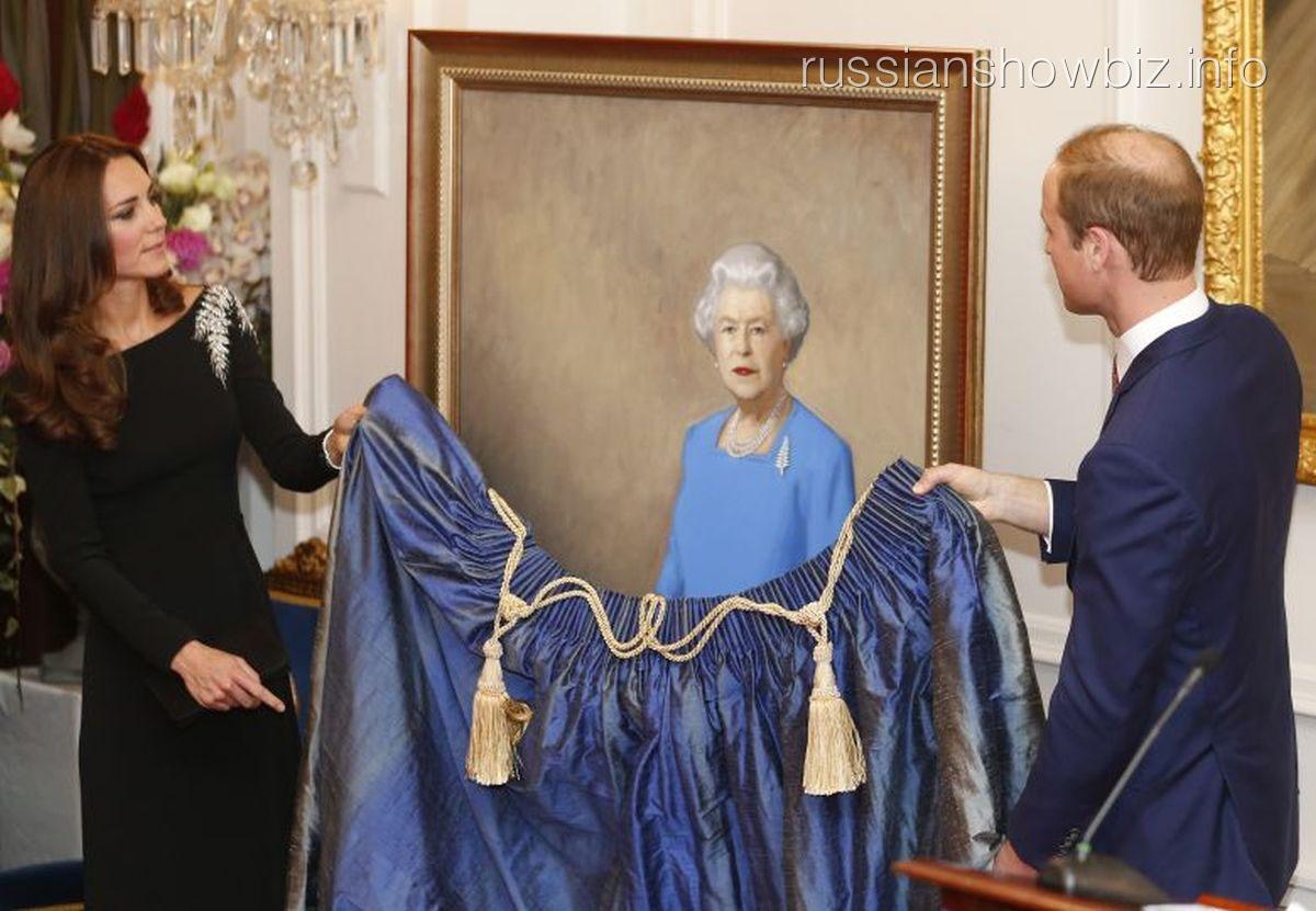 Принц Уильям представляет портрет Елизаветы II