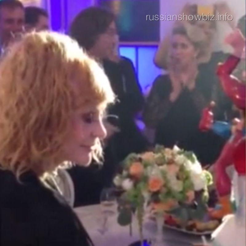Светлана Медведева на юбилее Аллы Пугачевой