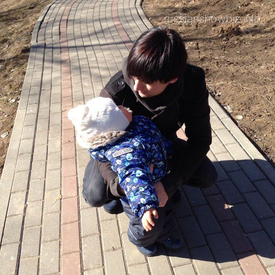 Дмитрий Колдун с сыном