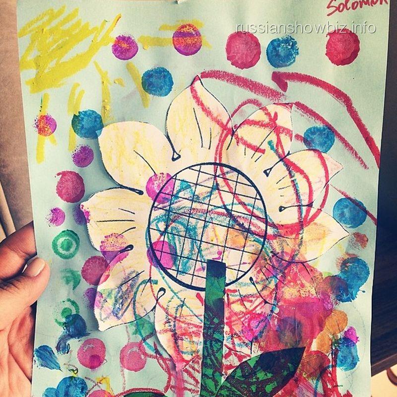 Первый рисунок сына Анфисы Чеховой