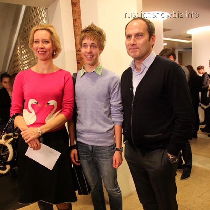 Татьяна Лазарева и Михаил Шац с сыном