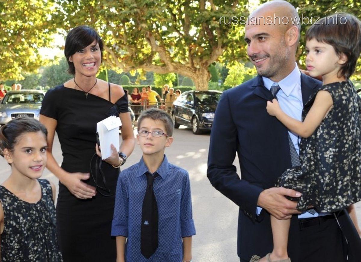 Хосеп Гвардиола с семьей