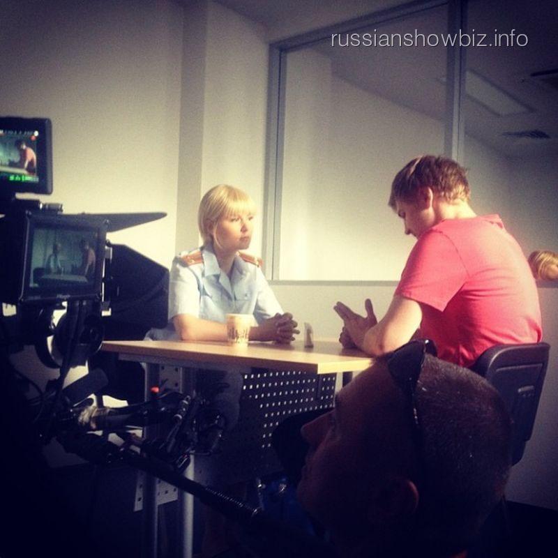 Мария Кожевникова на съемках нового фильма