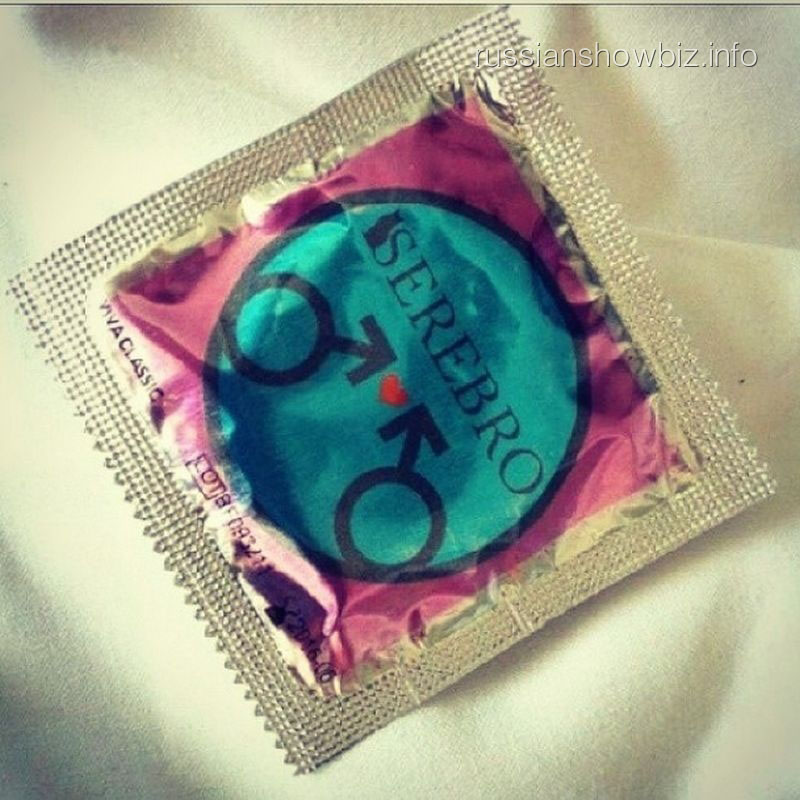 Презерватив с логотипом Serebro