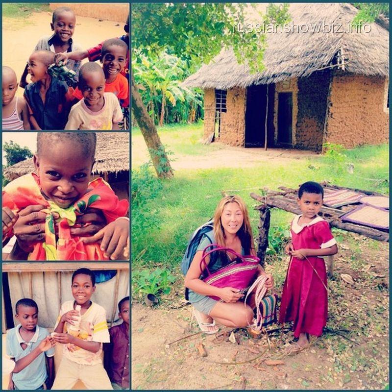 Анита Цой с аборигенами острова Мафия