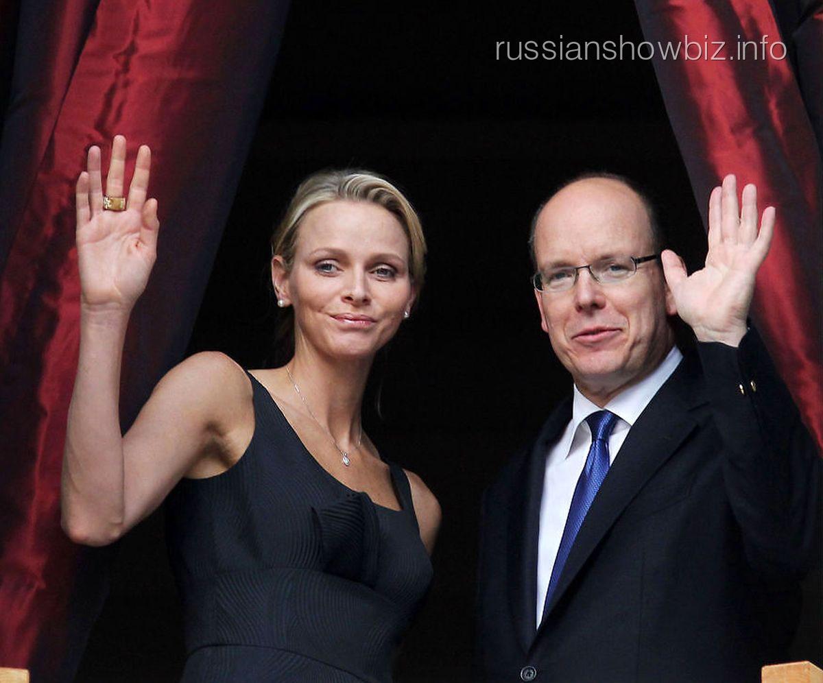 Альбер II с женой