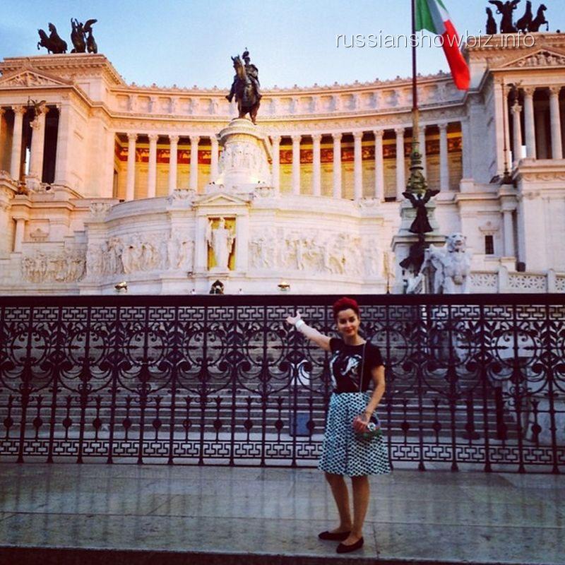 Тина Канделаки в Риме