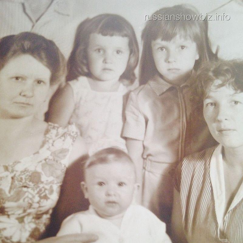 Евгений Плющенко в детстве с семьей