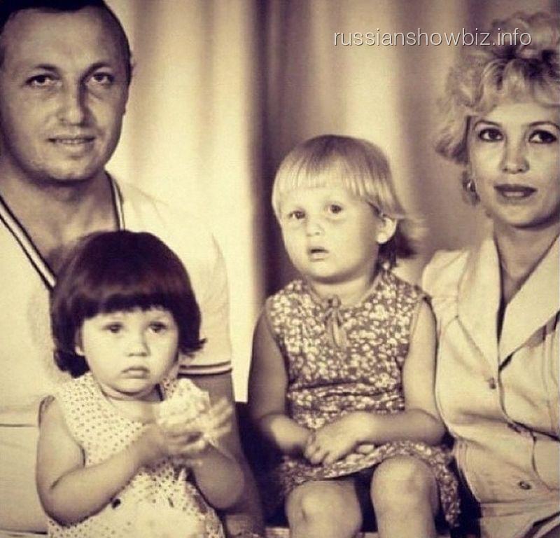 Виктория Боня в детстве с семьей