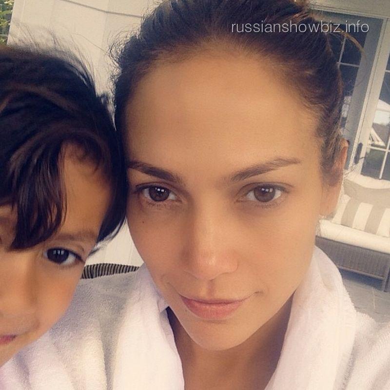 Дженнифер Лопес с сыном
