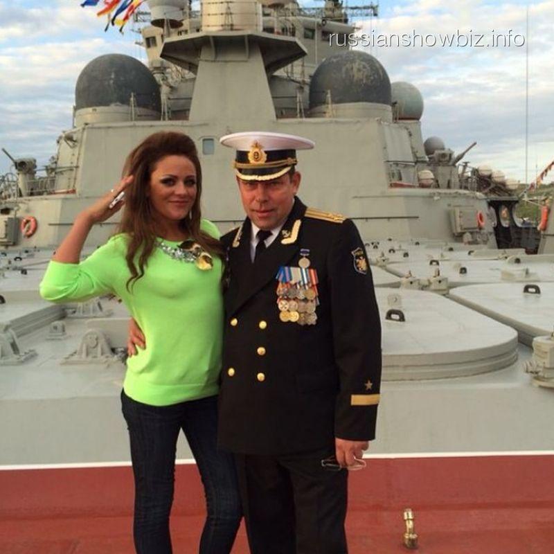 Юлия Началова на атомном ракетном крейсере