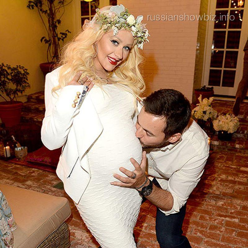 Кристина Агилера и отец ее будущего ребенка