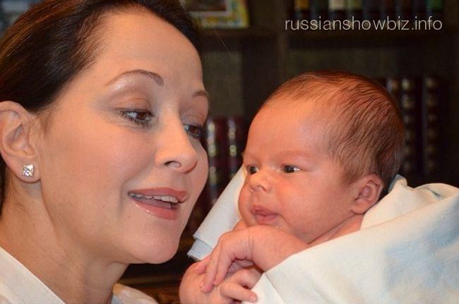 Ольга Кабо с новорожденным сыном