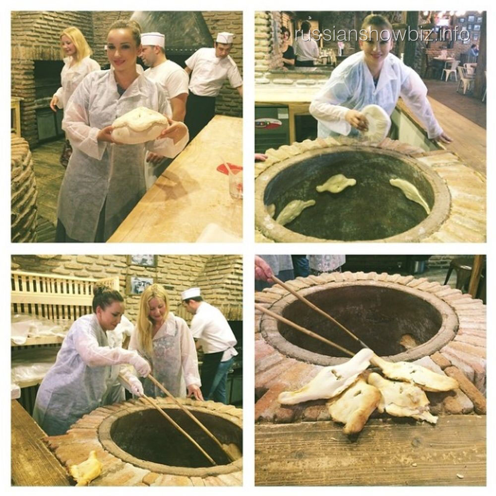 Анфиса Чехова делает грузинский хлеб