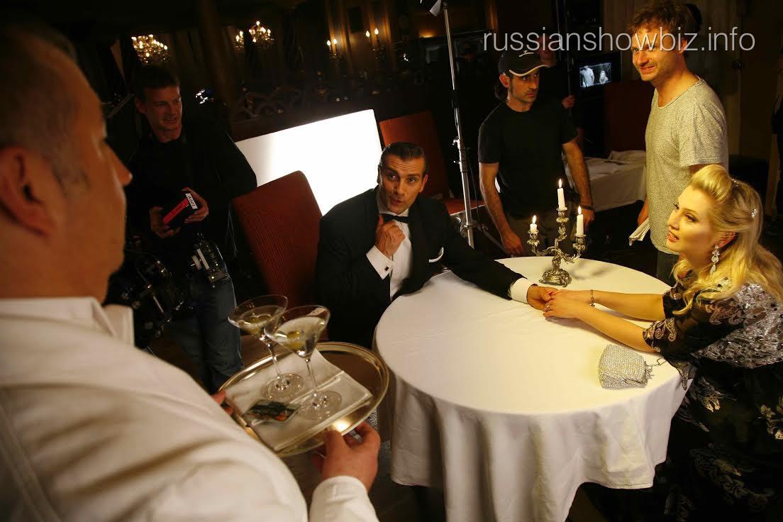 Лена Ленина на съемках сериала